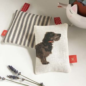 Wire/Rough Haired Dachshund Lavender Bag - lavender bags