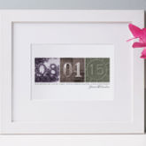 Personalised Date Art Print - anniversary gifts