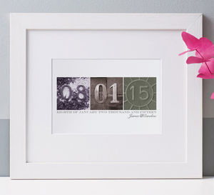 Personalised Date Art Print - 30th birthday gifts