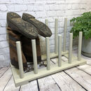 Wooden Boot Rack In Light Grey