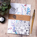 Hummingbird Blossom A5 Recycled Notebook