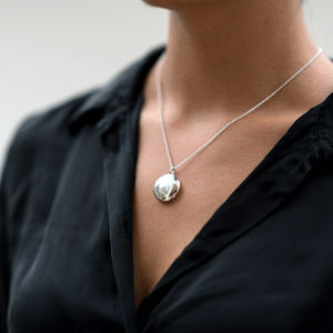 Solid Silver Round Locket - gifts for her