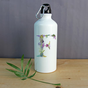 Personalised Floral Water Bottle And Metal Flask - picnics & barbecues
