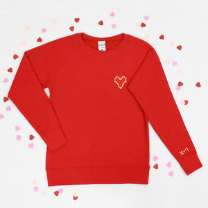'I Love You' Embroidered Women's Sweatshirt