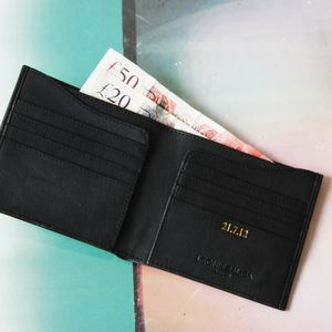Personalised Mens Luxury Leather Billfold Wallet - wallets