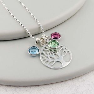 Family Tree Birthstone Necklace - necklaces & pendants
