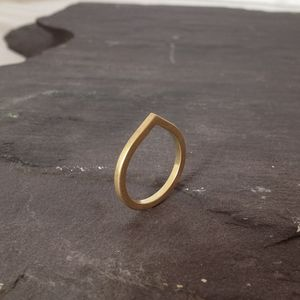 Square Section Pointed Band In 18ct Fairtrade Gold - contemporary jewellery