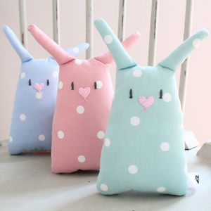 Personalised Baby Bunny Toy - keepsakes