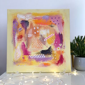 Abstract Art Girls Boys Original Painting On Canvas
