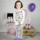 Personalised Mermaid Colour In Pyjamas With Pens
