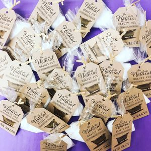 Natural Bath Salt Favours 20 - wedding favours