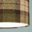 Chestnut Brown Check Harris Tweed Lampshade