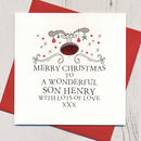 Personalised Family Relation Christmas Card