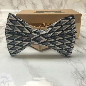 Hotsy Totsy Monochrome Dog Bow Tie - pet clothes & accessories