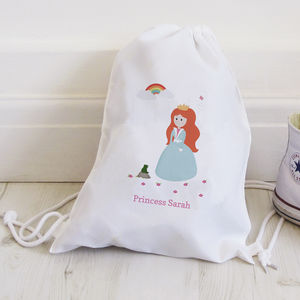 Personalised Princess Drawstring Bag