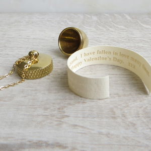 Secret Message Scroll And Acorn Locket Necklace