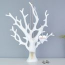 Personalised Necklace Stand White Coral Jewellery Tree