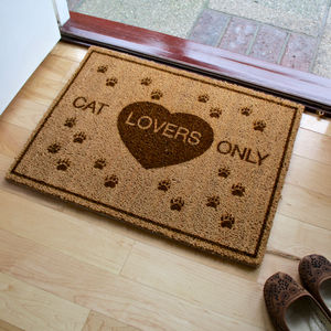 Cat Lovers Doormat - rugs & doormats