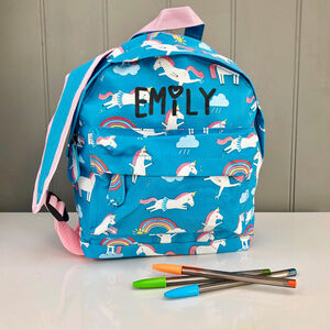 Little Girls Personalised Backpack