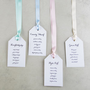 Personalised Luggage Tag Table Plan Tags - table plans