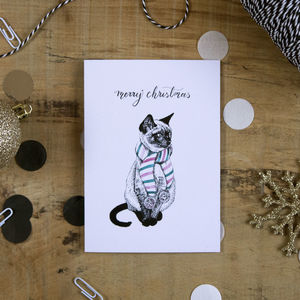 Kitten In A Scarf Christmas Card - new in christmas
