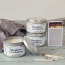 Daisy And Dot Elderflower And Gooseberry Tin Candle