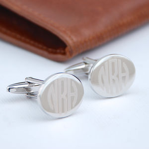 Contemporary Monogram Cufflinks - gifts for him