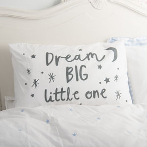 Children's 'Dream Big' Pillowcase - bedding & accessories