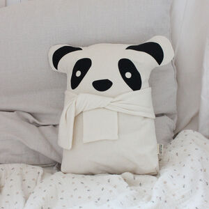 Personalised Baby And Child Panda Cushion With Name