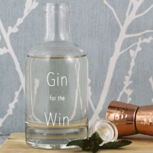 'Gin For The Win' Stylish Glass Decanter Gift