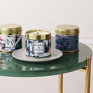 Personalised Candle In A Can - dining room