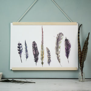 Wild Golden Feather Art Print