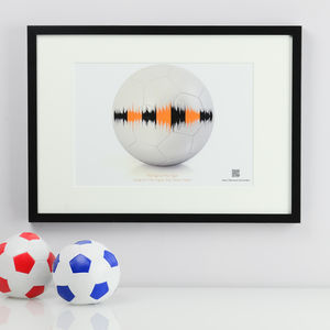 Personalised Football Soundwave Print With Music