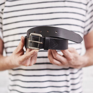 Secret Message Mens Leather Belt