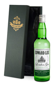 Personalised Gin In Silk Lined Box - food gifts