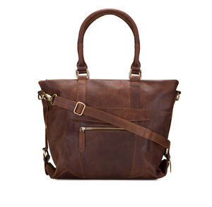 Leather Zip Pocket Handbag - gifts for mothers