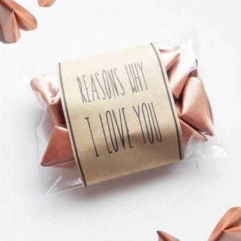 Origami 'Reasons Why I Love You' Envelope