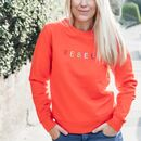 'Rebel' Embroidered Adult Organic Sweatshirt