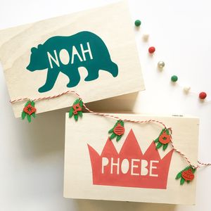 Personalised Wooden Christmas Eve Box - christmas eve boxes