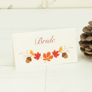 Autumn Name Place Card - place cards