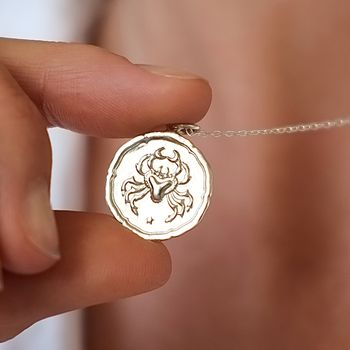 Personalised Zodiac Sign Necklace Birthday Gift