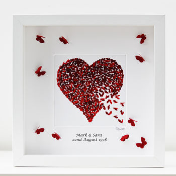 Butterfly Ruby Wedding Anniversary Framed Print