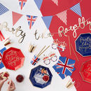 Union Jack And Gold Foiled Fun Glasses Eight Pack