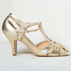 Wedding T Bar Sandals Ginger - 'mother of the bride' fashion and accessories