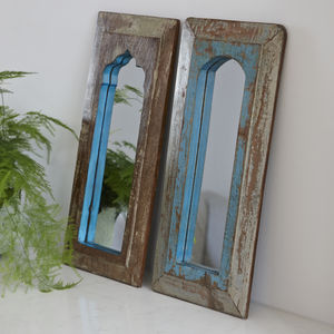 Painted Wooden Indian Mirror