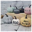 Mini Personalised Artificial Pumpkins