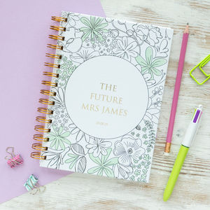 Personalised 'The Future Mrs' Notebook - writing