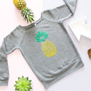 Glittery Pineapple Ladies Jumper - women's fashion