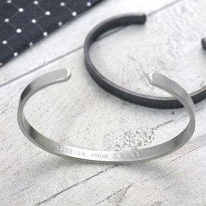 Oxidised Matte Silver Cuff Bracelet - gifts for him
