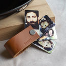Mini Photo Album, Leather Bound Personalised Gift